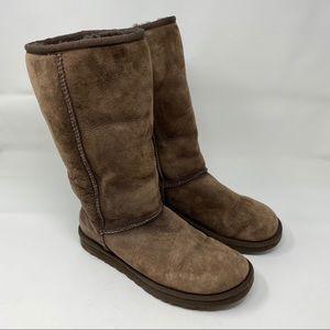 Ugg Australia Boots Chocolate Brown Women's Size 7